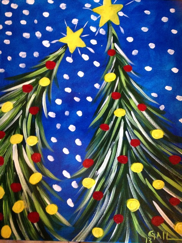 Christmas Scenes to Paint New 30 Easy Canvas Painting Ideas