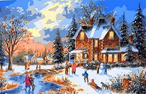 Christmas Scenes to Paint Unique Christmas Paint by Number Kits • Fy Christmas