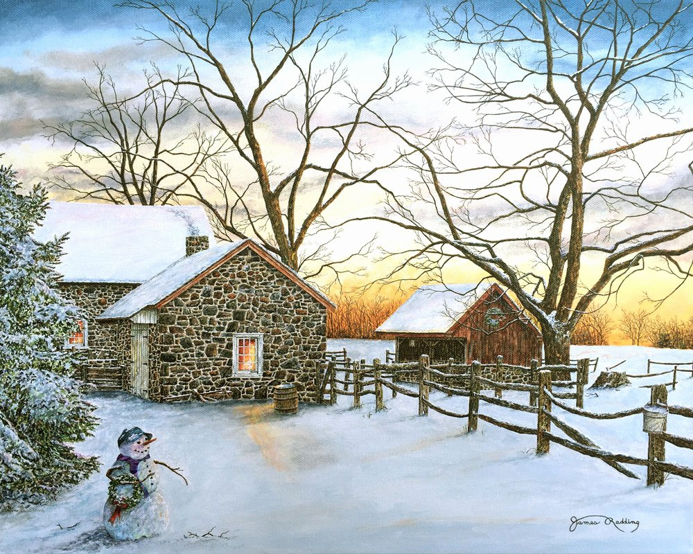 Christmas Scenes to Paint Unique Winter Painting Snowman Painting Christmas Painting Snow