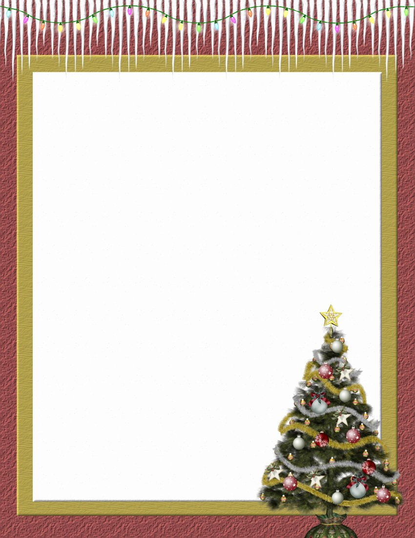 Christmas Stationery for Word Awesome Christmas 2 Free Stationery Template Downloads