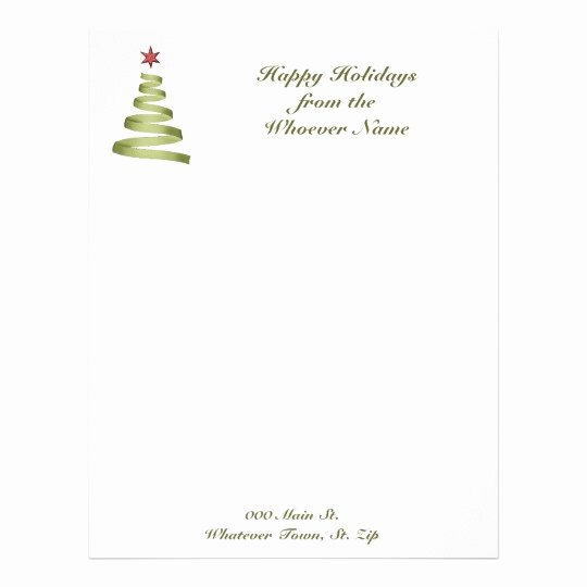 Christmas Stationery for Word Awesome Letterhead Business Holiday Christmas Letterhead