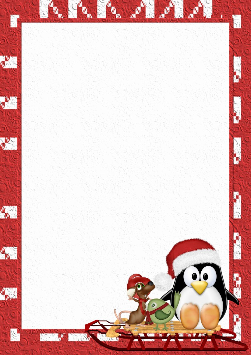 Christmas Stationery for Word Best Of Winter 1 A4 theme Free Digital Stationery