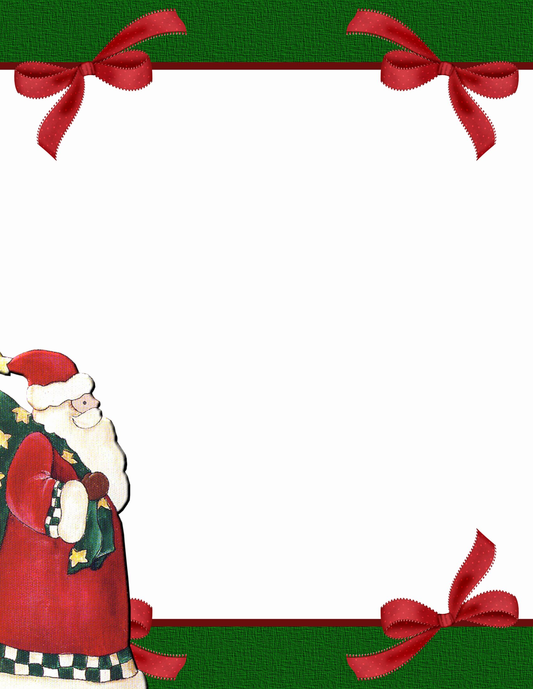 Christmas Stationery for Word Elegant Christmas 2 Free Stationery Template Downloads