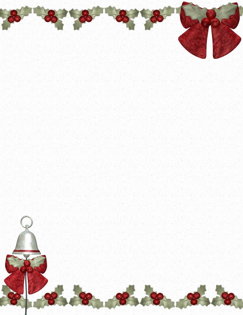 Christmas Stationery for Word Fresh Christmas Stationery Templates Microsoft Word Freemixfs
