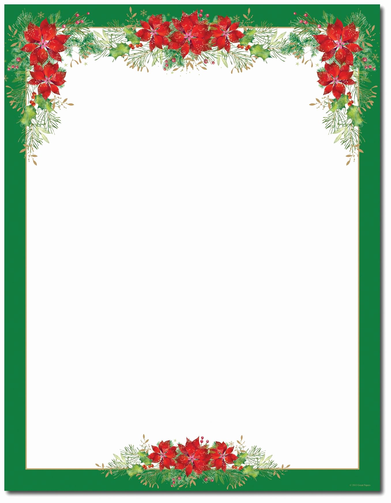 Christmas Stationery for Word Fresh Poinsettia Valance Letterhead Holiday Papers