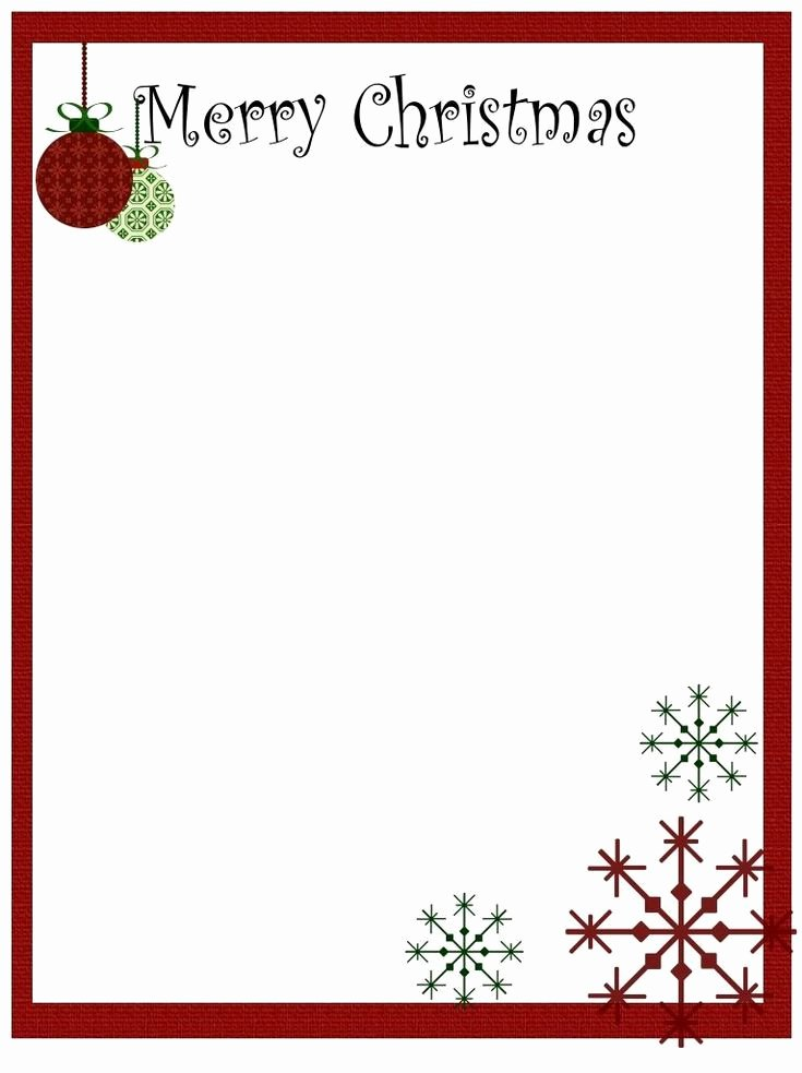 Christmas Stationery for Word Luxury Printable Christmas Stationery to Use for the Holidays