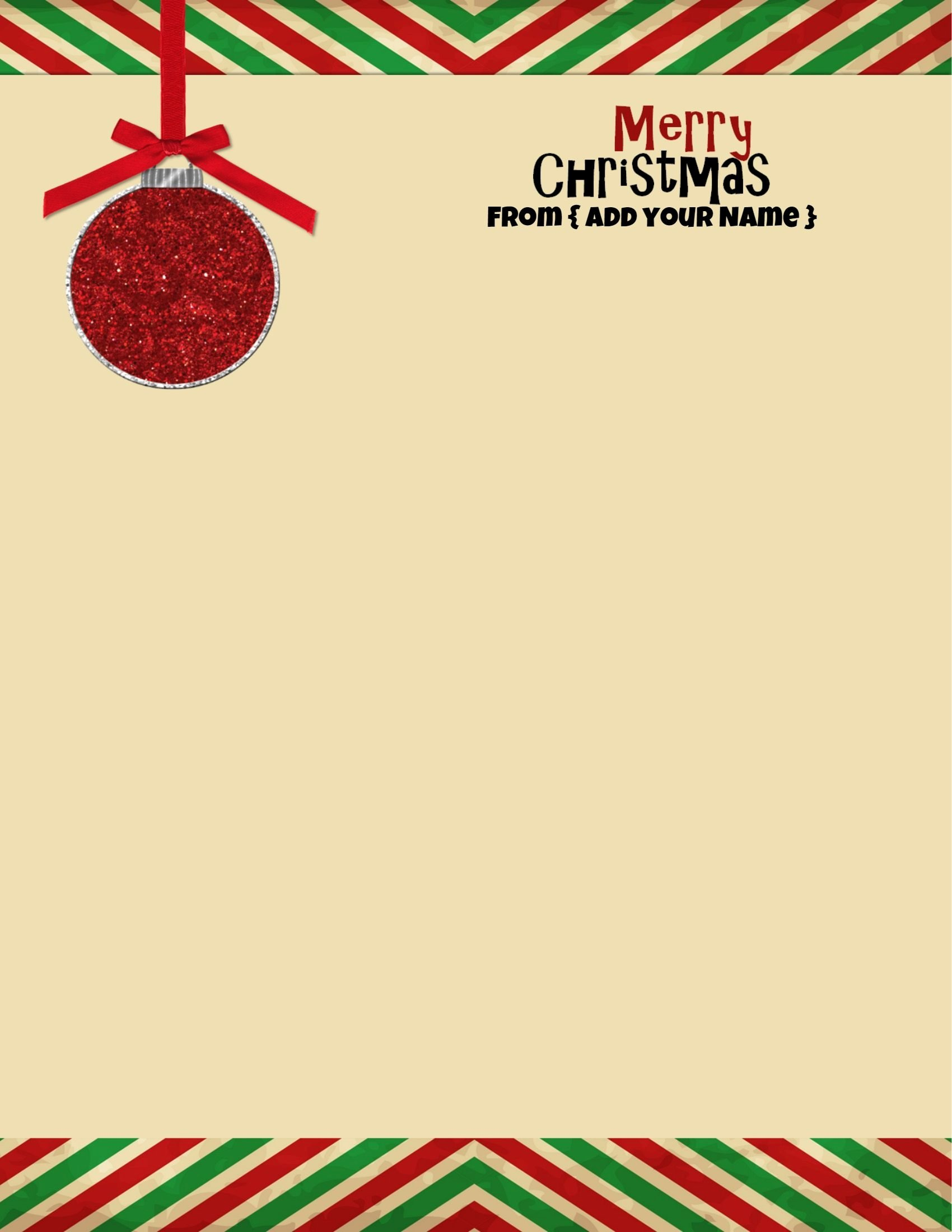 Christmas Stationery for Word New Free Personalized Christmas Stationery