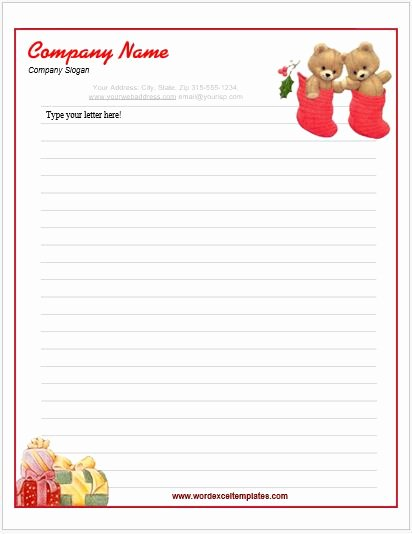 Christmas Stationery for Word Unique event Letterhead Templates for Ms Word