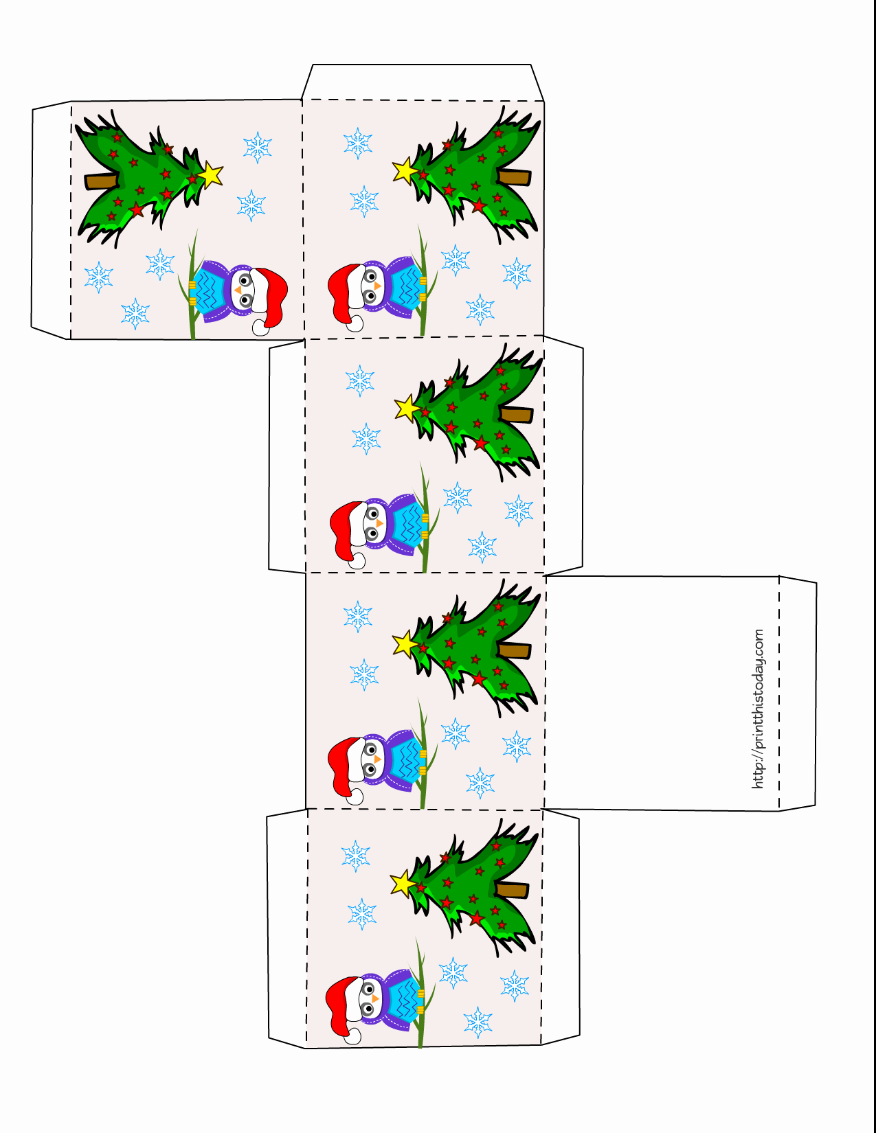 Christmas Templates to Print Elegant Owl Christmas Printable Stationery Bookmarks Candy