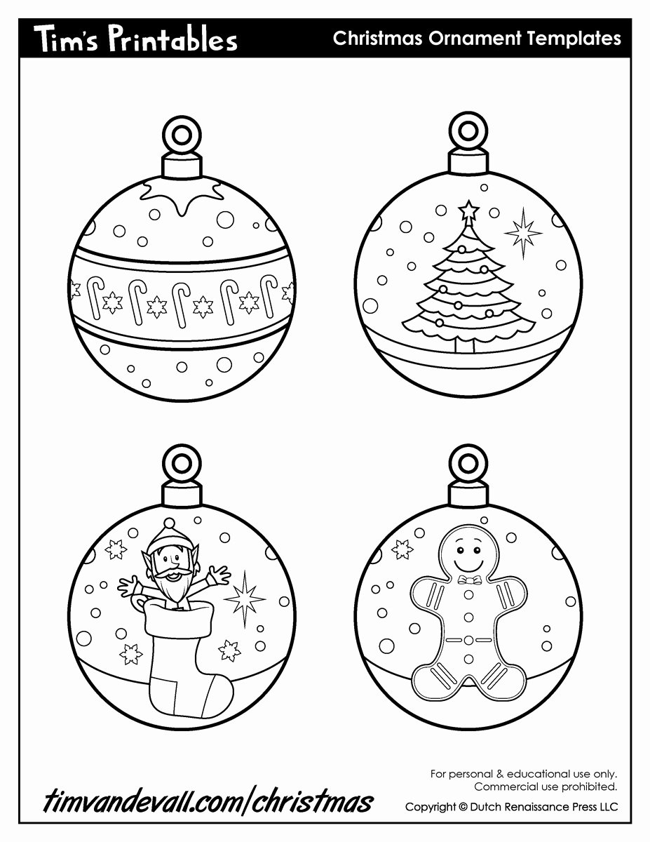 Christmas Templates to Print Elegant Printable ornaments Template