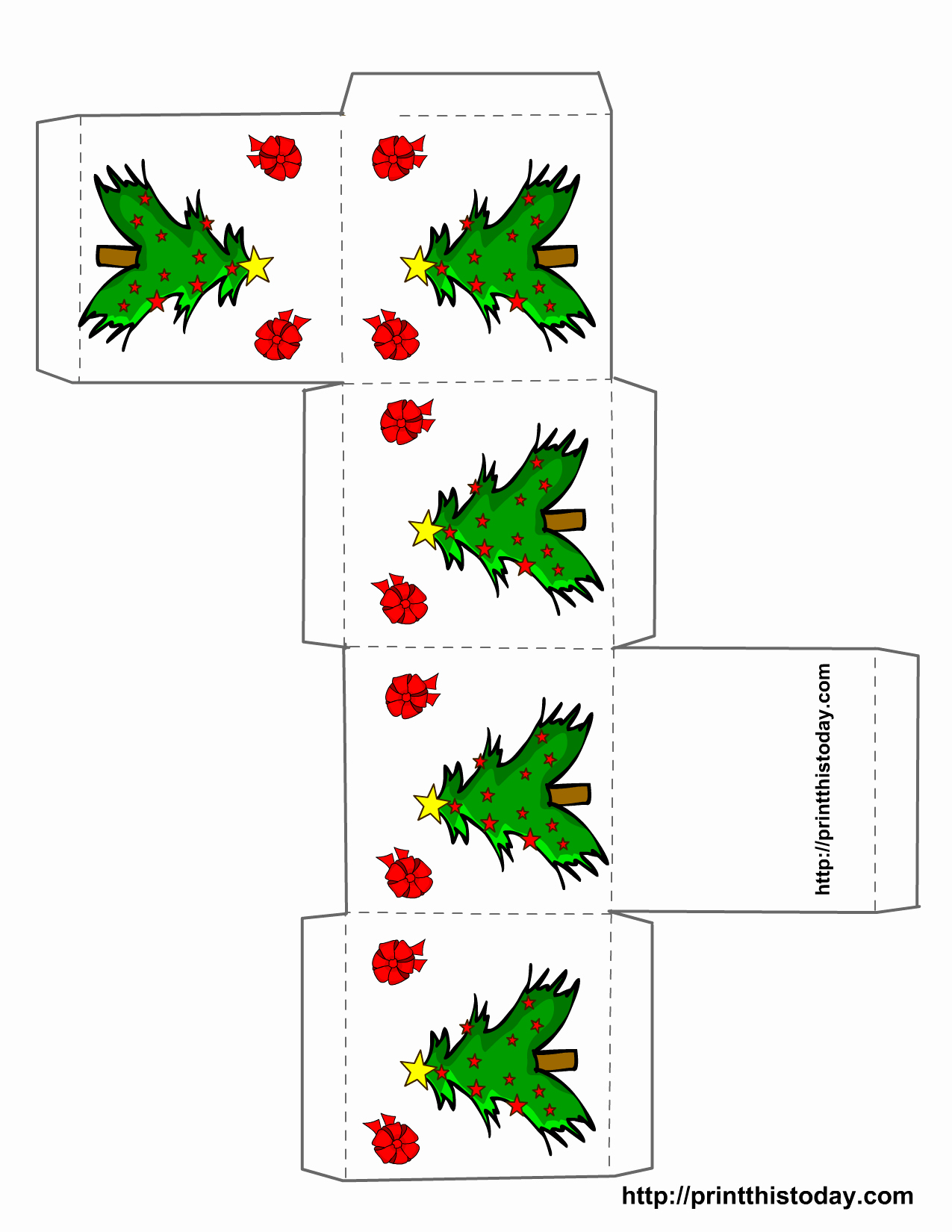 Christmas Templates to Print Fresh Free Printable Christmas Boxes