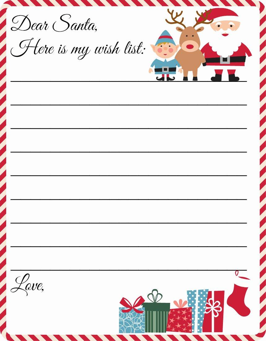 Christmas Templates to Print Inspirational Free Printable Letter to Santa Template Cute Christmas