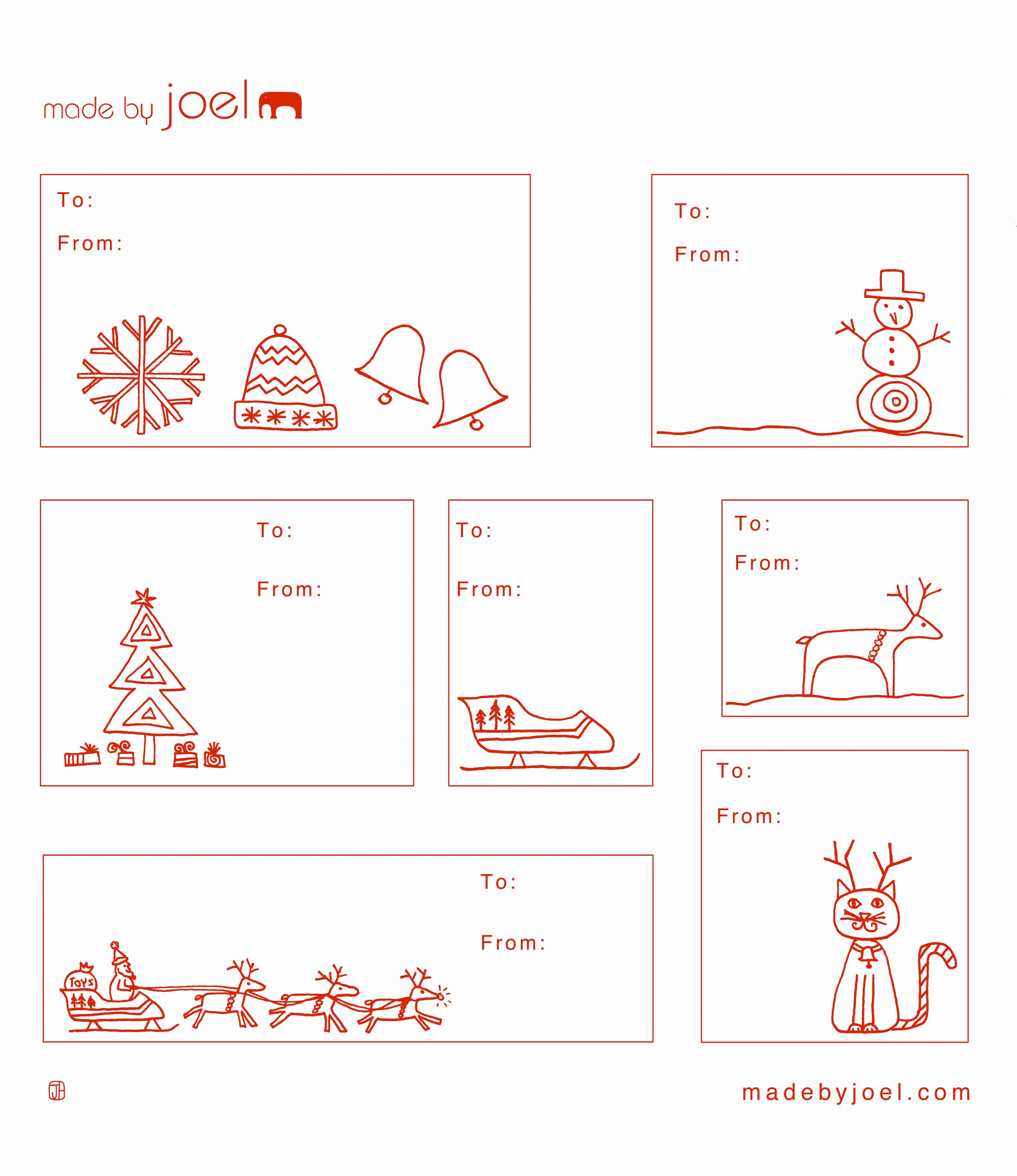 Christmas Templates to Print Lovely Made by Joel Holiday Gift Tag Templates