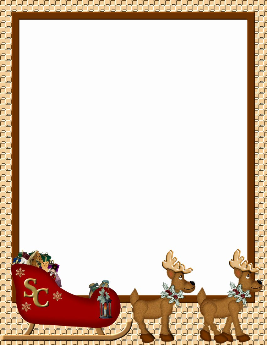 Christmas Templates to Print Unique Christmas 1 Free Stationery Template Downloads