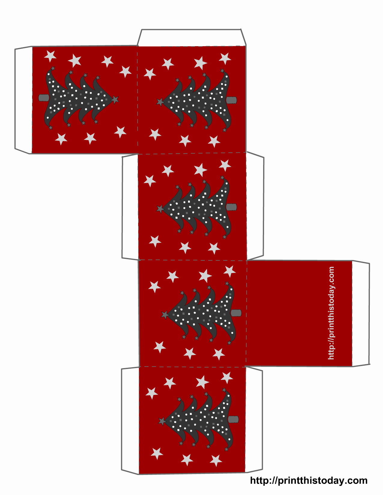 Christmas Tree Box Template Awesome Free Printable Christmas Boxes