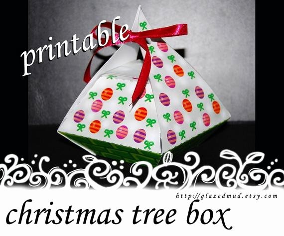Christmas Tree Box Template Best Of White Christmas Tree Gift Box Template Pdf Printable