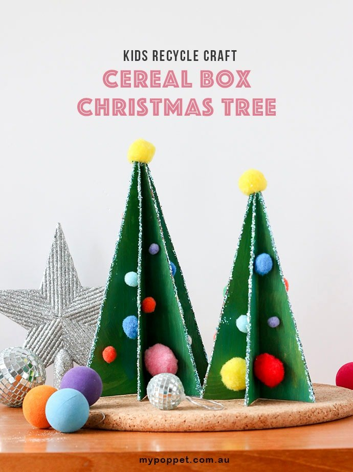 Christmas Tree Box Template Fresh Kids Recycle Craft Cereal Box Christmas Tree My Poppet