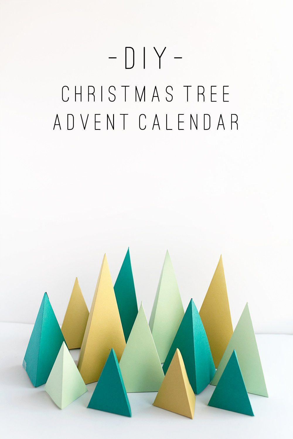 Christmas Tree Box Template New Tell Diy Christmas Tree Advent Calendar Tell Love and Party