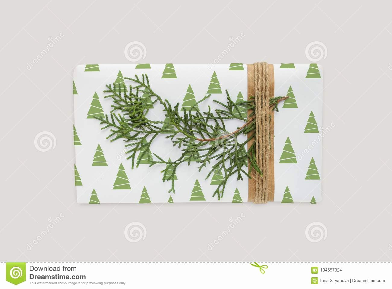 Christmas Tree Box Template Unique Box Template with Christmas Tree Decoration Wrapped Gift