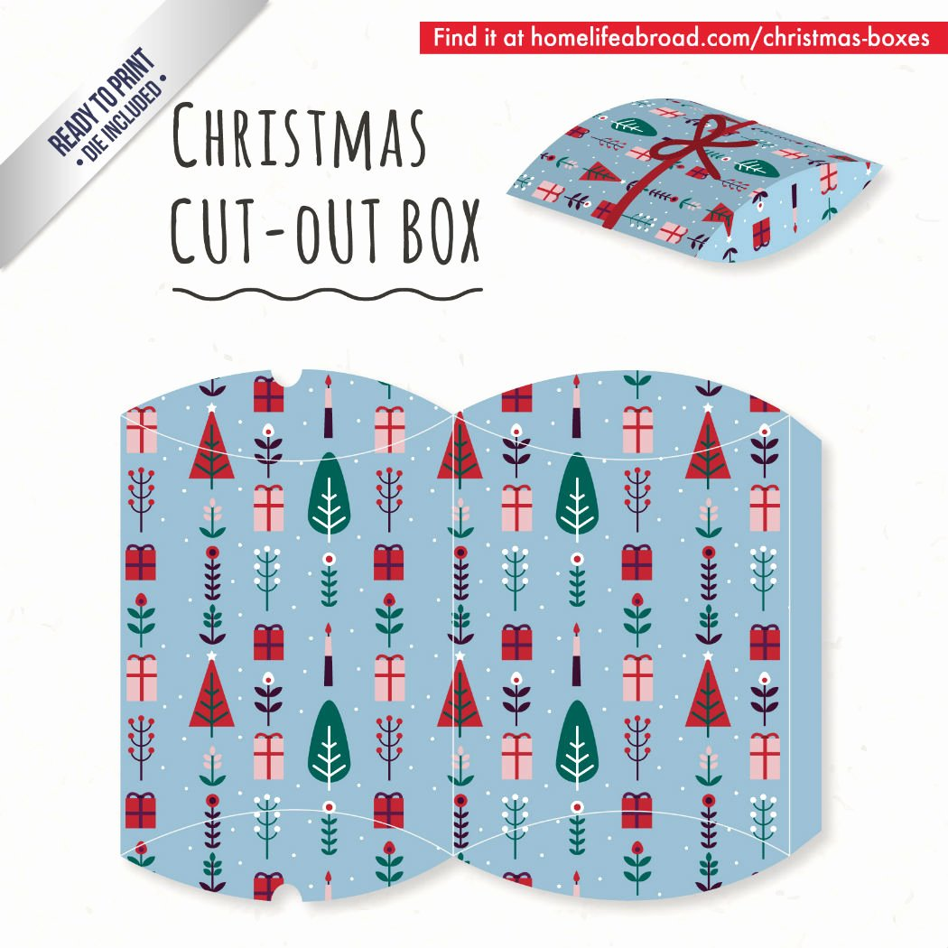 Christmas Tree Box Template Unique Mega Collection Of 38 Cut Out Christmas Box Templates Part 4