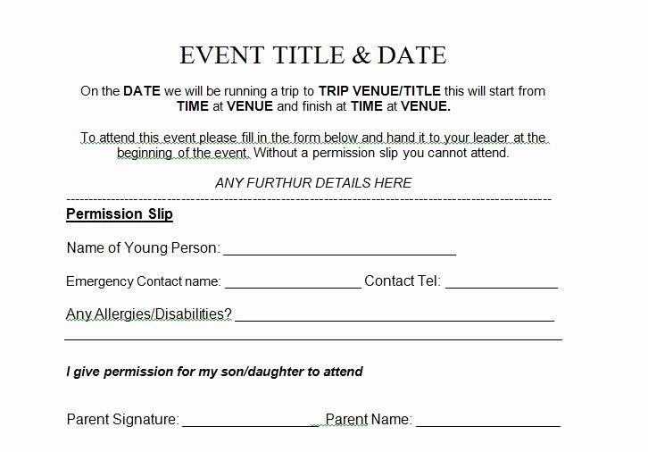 Church Field Trip Permission Slip Best Of 35 Permission Slip Templates & Field Trip forms Free