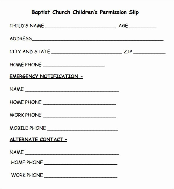 Church Field Trip Permission Slip Lovely 28 Of Simple Youth Permission Slip Template