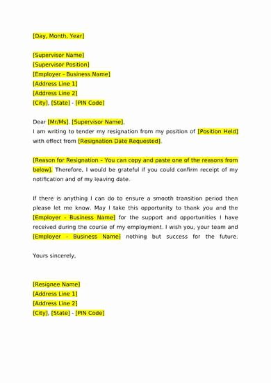 Church Resignation Letter for Pastors Lovely 6 Free Resignation Letter Samples Pdf Doc