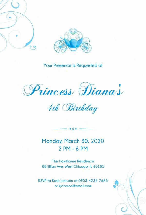 Cinderella Invitation Template Free Awesome 12 Amazing Cinderella Invitation Templates & Designs