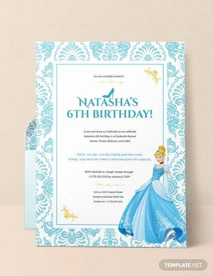 Cinderella Invitation Template Free Beautiful 13 Amazing Cinderella Invitation Templates & Designs