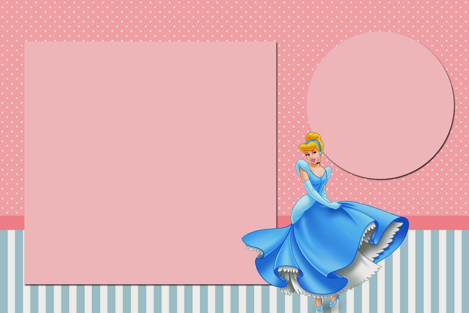 Cinderella Invitation Template Free Beautiful Cinderella In Pink and Light Blue Free Printable