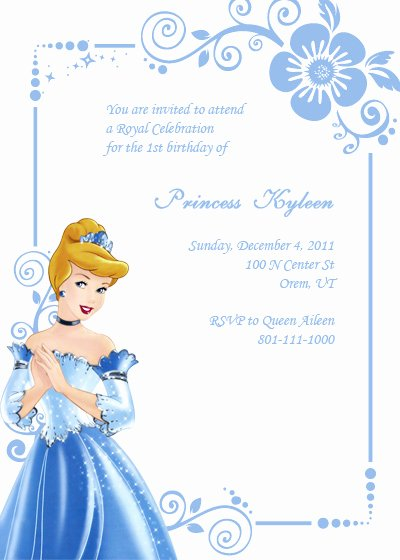 Cinderella Invitation Template Free Beautiful Cinderella themed Party Best events Blog