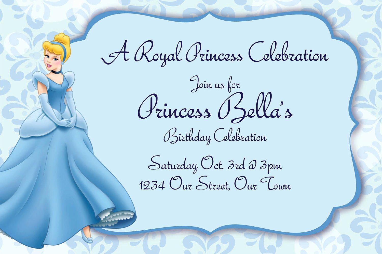 Cinderella Invitation Template Free Beautiful Free Printable Cinderella Birthday Invitations – Free