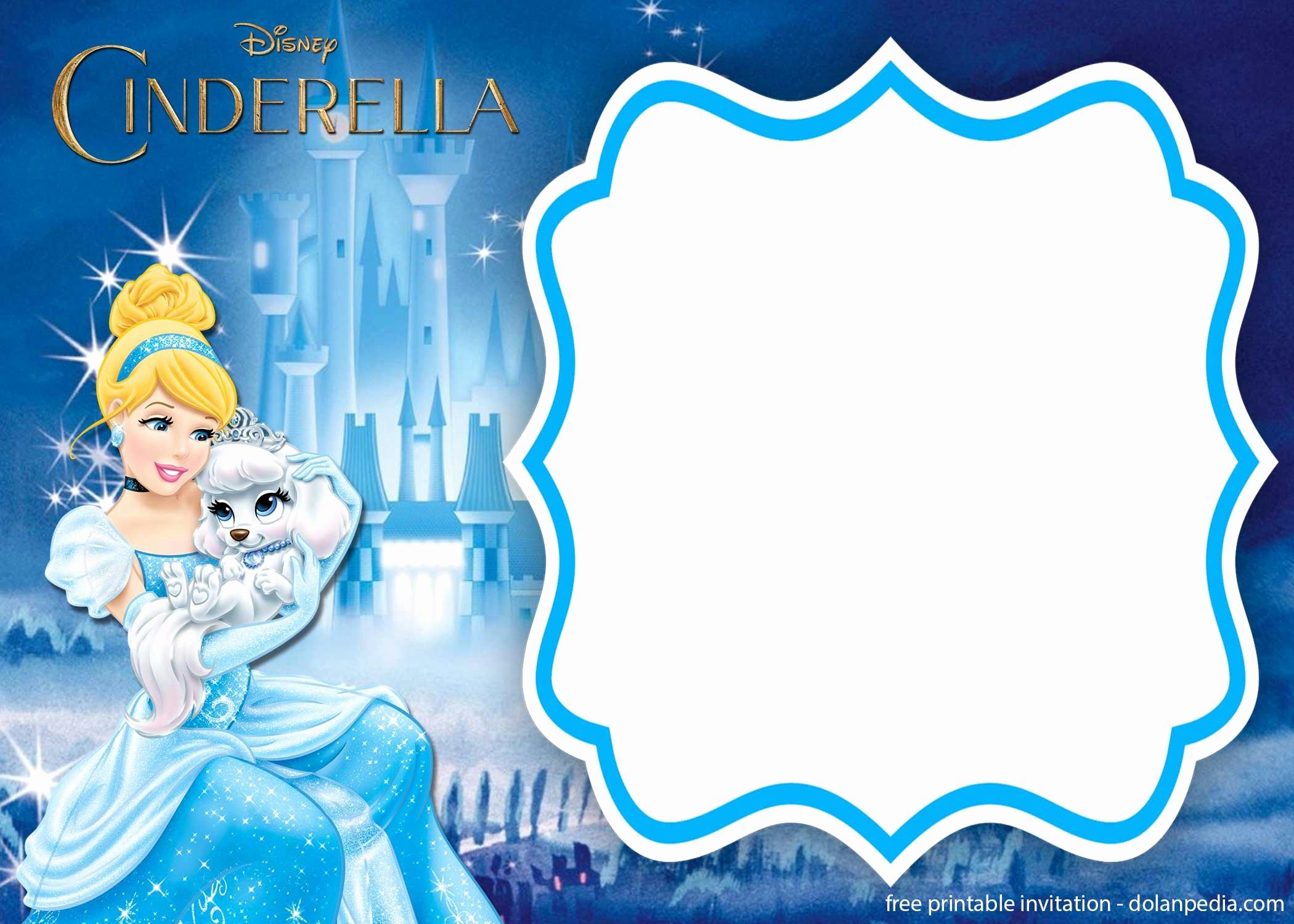 Cinderella Invitation Template Free Beautiful Free Printable Cinderella Royal Invitation Templates