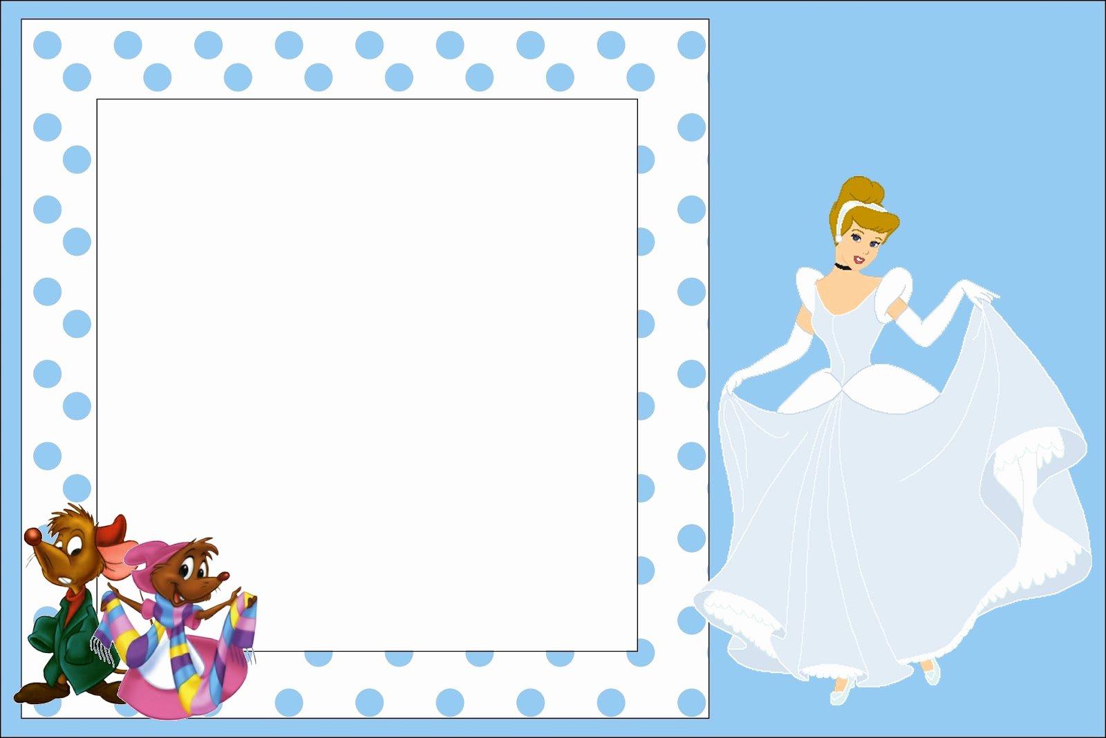 Cinderella Invitation Template Free Best Of Cinderella Free Printable Invitations