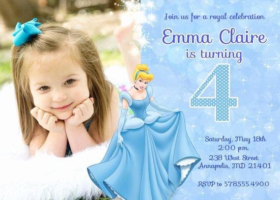 Cinderella Invitation Template Free Fresh Cinderella Birthday Invitations Ideas – Bagvania Free