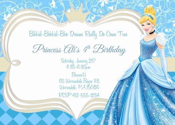 Cinderella Invitation Template Free Fresh Printable Cinderella Birthday Party Invitation Plus Free Blank