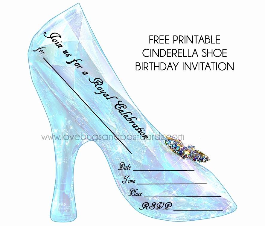 Cinderella Invitation Template Free Inspirational Cinderella Birthday Invitations Free Printables Party