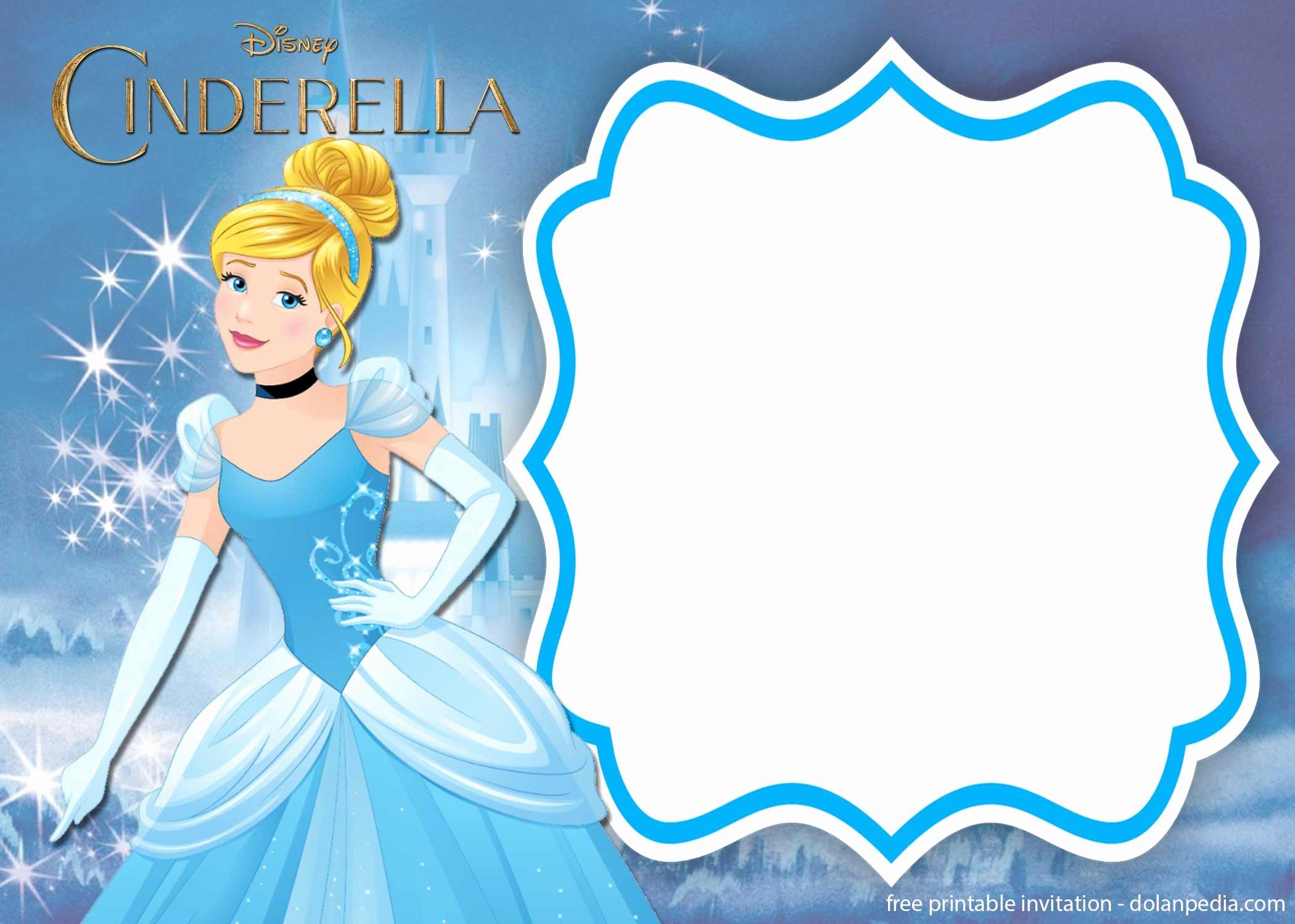 free printable cinderella royal invitation templates