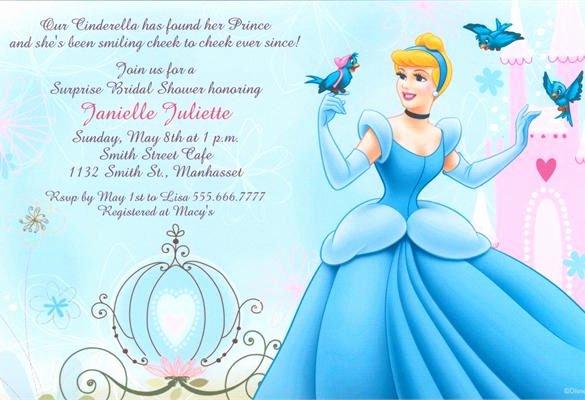 Cinderella Invitation Template Free New 13 Amazing Cinderella Invitation Templates & Designs