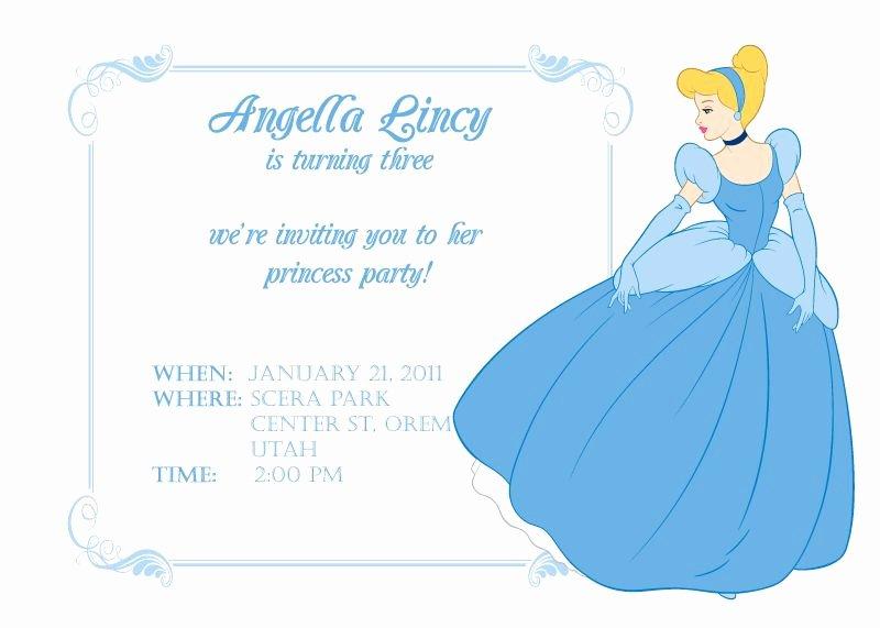 Cinderella Invitation Template Free New Cinderella Birthday Invitation