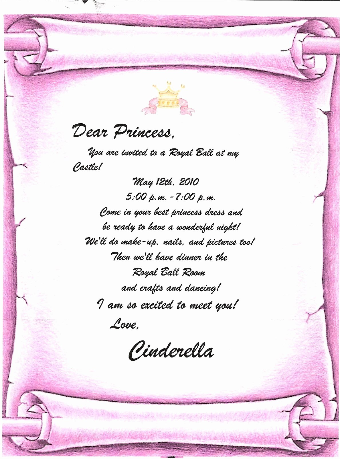 Cinderella Invitation to the Ball Awesome Life as We Know It Princess Ball