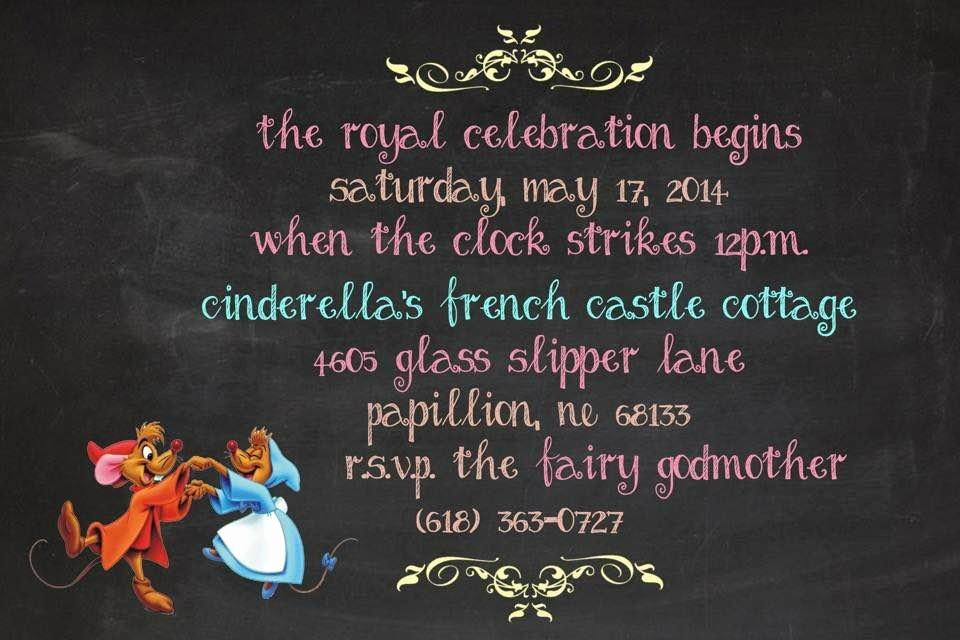 Cinderella Invitation to the Ball Elegant Cinderella Befour the Royal Ball Rags to Riches Party