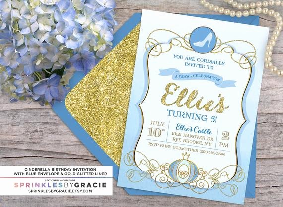 Cinderella Invitation to the Ball Elegant Cinderella Royal Ball Birthday Party Invitation with Free