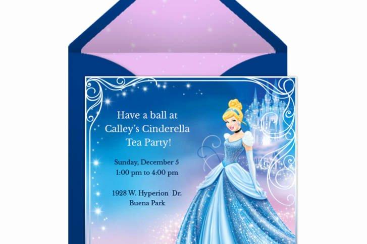 Cinderella Invitation to the Ball Fresh Cinderella Party Line Invitation