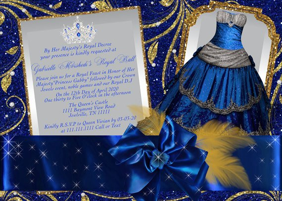 Cinderella Invitation to the Ball Fresh Royal Ball Invitation Princess Party Invitations Cinderella
