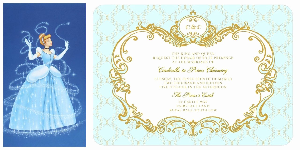 Cinderella Invitation to the Ball Lovely Cinderella Wedding Invitation Lily James Ficial Disney