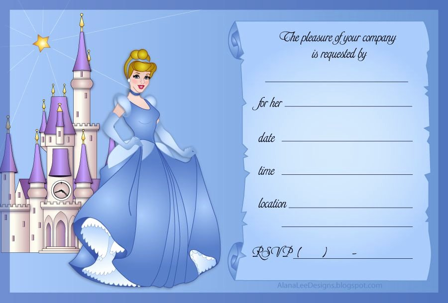 Cinderella Invitation to the Ball New Invitation Cinderella Birthdayy Party theme