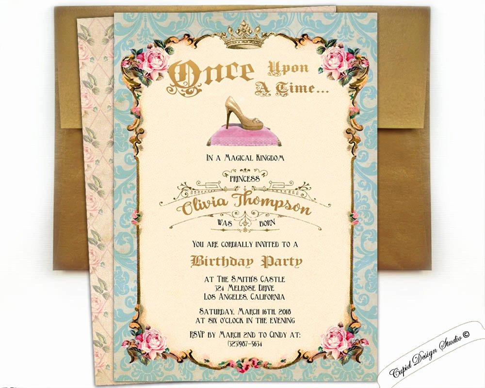 Cinderella Invitation to the Ball Unique Cinderella Ball Invitation Cinderella Party Cinderella Invite