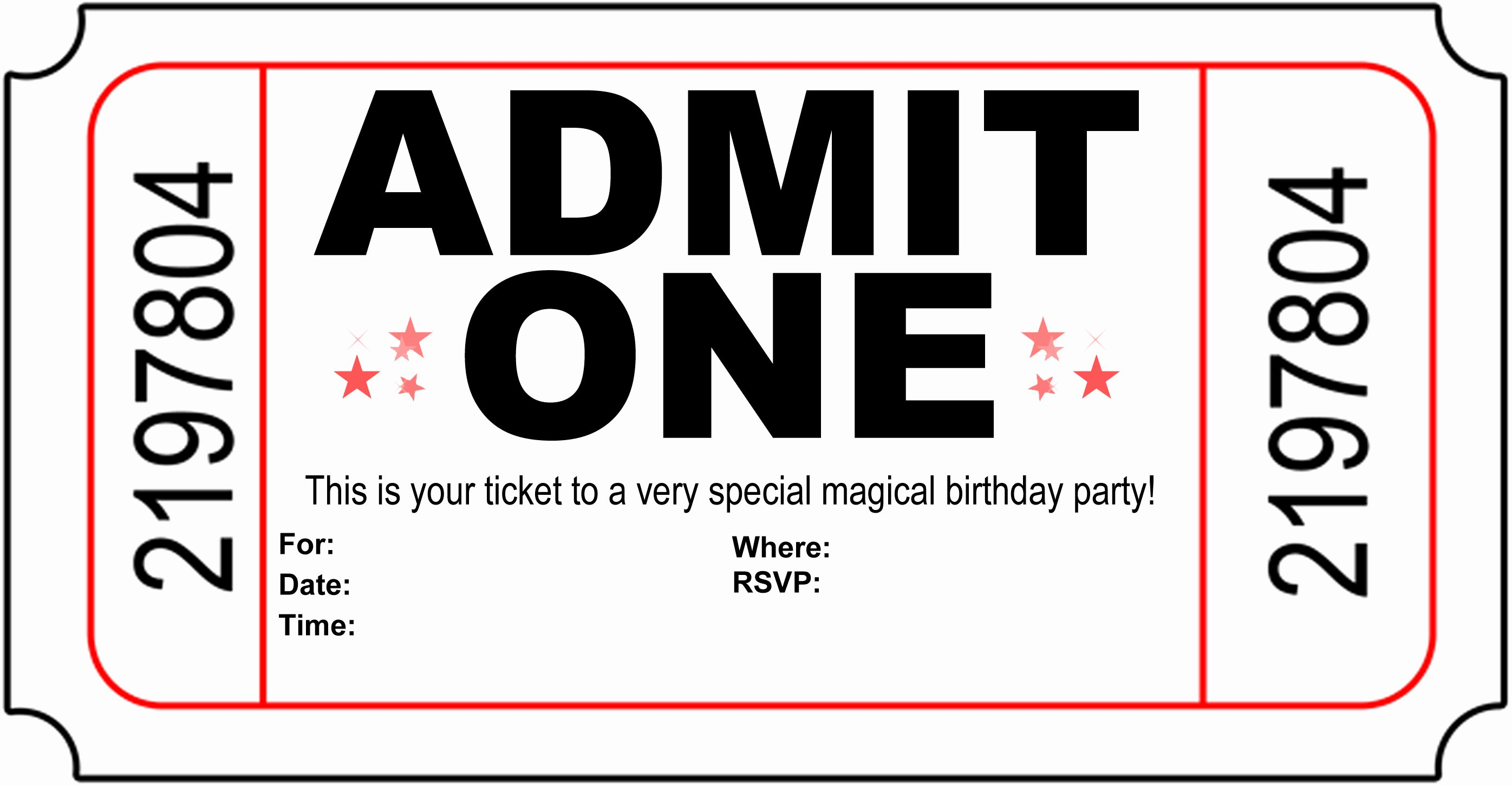 Circus Ticket Invitation Template Free Awesome Carnival Ticket Invitation Template Cliparts