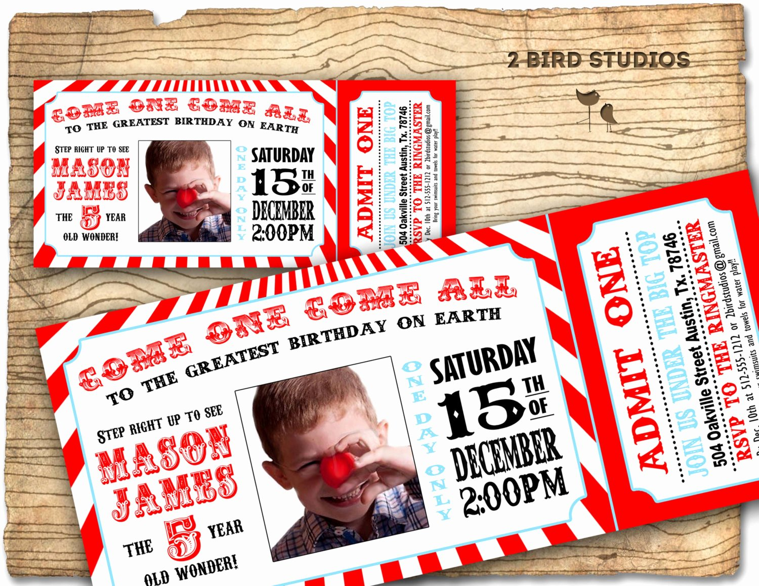Circus Ticket Invitation Template Free Awesome Circus Invitation Vintage Circus Birthday Invite